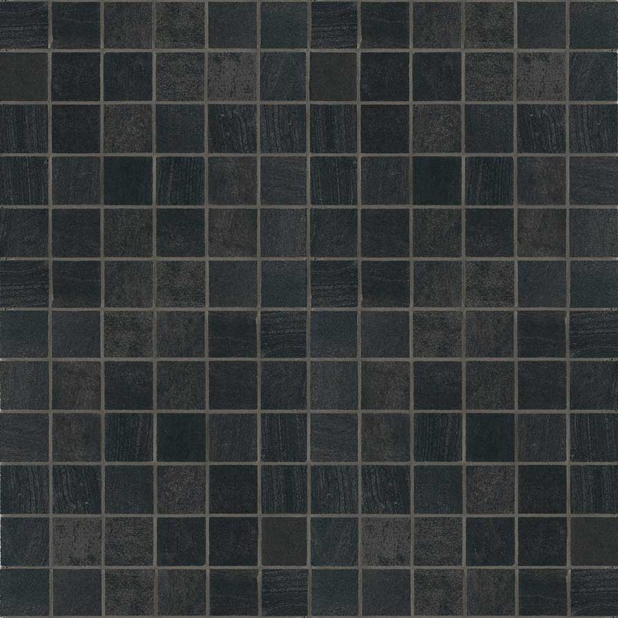 Crossover collection nemo tile stone crossover porcelain nero 1x1 mosaic dailygadgetfo Image collections